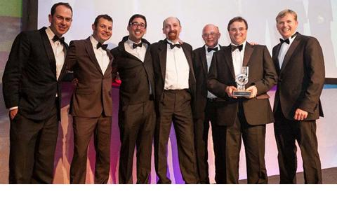 StarStream team collecting award at 2012 Institute of Chemical Engineers awards ceremony