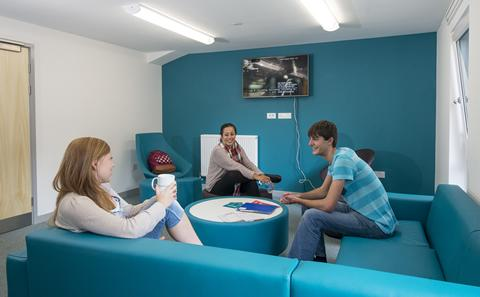 Students in their Halls of Residence