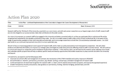 front page of 2020 plan