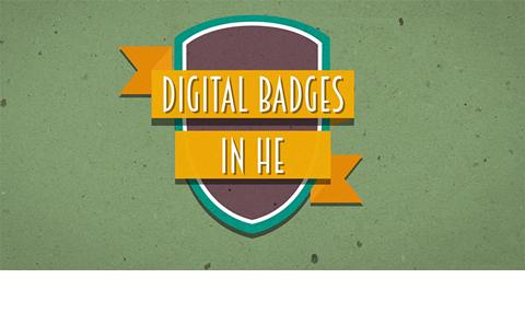 animation of a badge