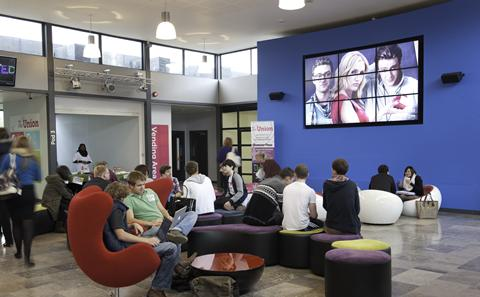 Refurbished foyer in the Students' Union
