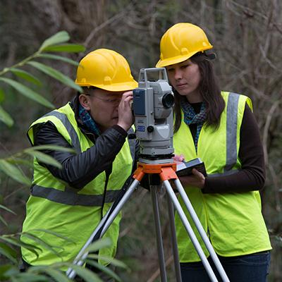 Surveying practice on campus