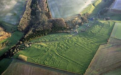 Wharram Percy medieval village. Historic England.