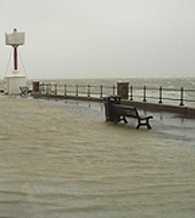 Flooding at Cowes, Isle of Wight