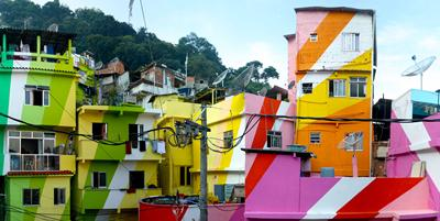 Colourful favelas symbolise the breadth of sustainability issues