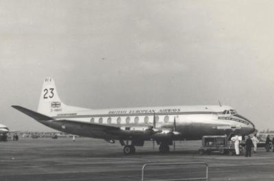The Vickers Viscount turboprop aircraft