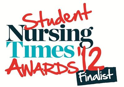 Finalists for our nursing degrees at the Student Nursing Times Awards 2012