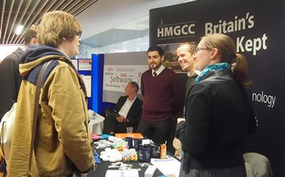 A careers fair at the University of Southampton