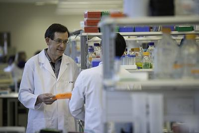 Research to find a way of killing cancer cells, without harming normal, healthy cells