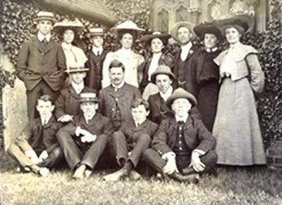 A group of early students from Hartley University College pose for a picture
