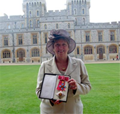 Received her honour from Her Majesty The Queen at Windsor Castle
