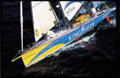 Ellen MacArthur and Kingfisher during the Vendee Globe race