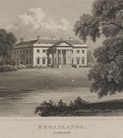 An early image of the Broadlands estate