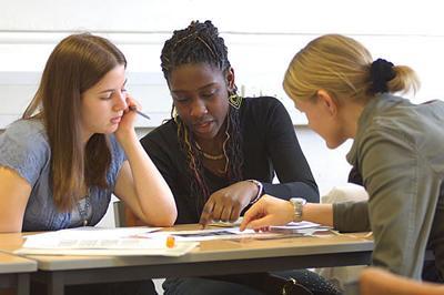 Students developing teaching skills