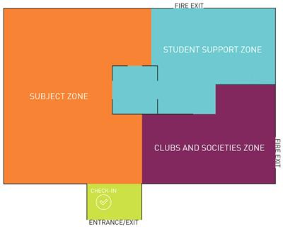 Information fair floorplan