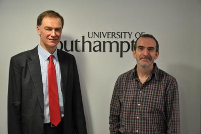 Professor Mark Spearing with Visiting Fellow Professor Jim Best