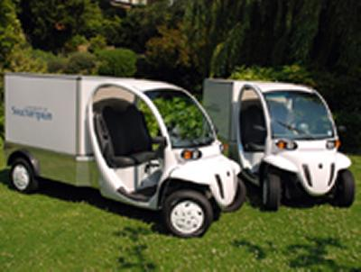 Two GEM electric vans have been bought by the University's estates and facilities department to transport heavy loads around the campuses.