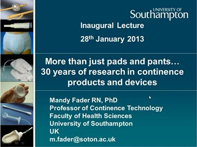 Mandy Fader's Inaugural lecture