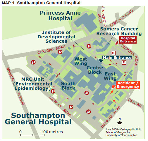 Southampton General Hospital Map Southampton General Hospital | Biological Sciences | University of