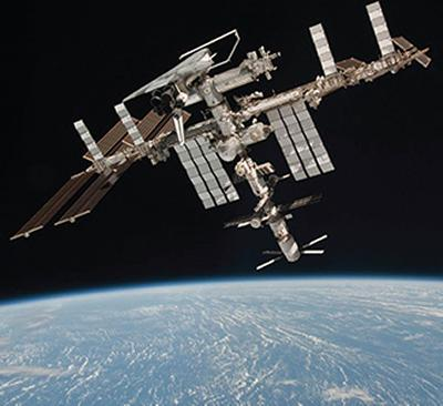 ISS with ATV and Shuttle docked