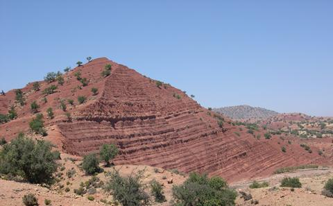 Sedimentary sequences in Morocco