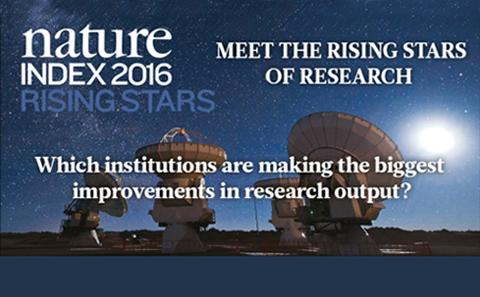 Nature Index Rising Stars