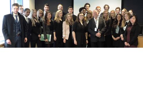 Law students with Keith Taylor MEP