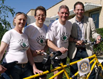 Charity tandem ride