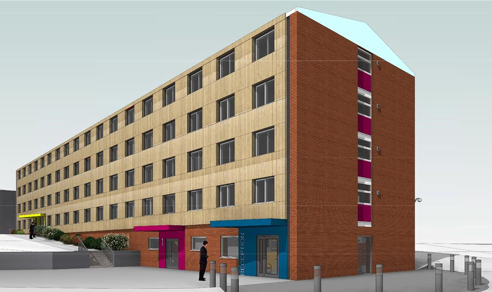 Architect's impression of J Block hall renovation