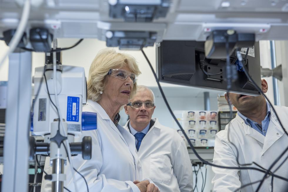 The Duchess visited the Institute for Life Sciences