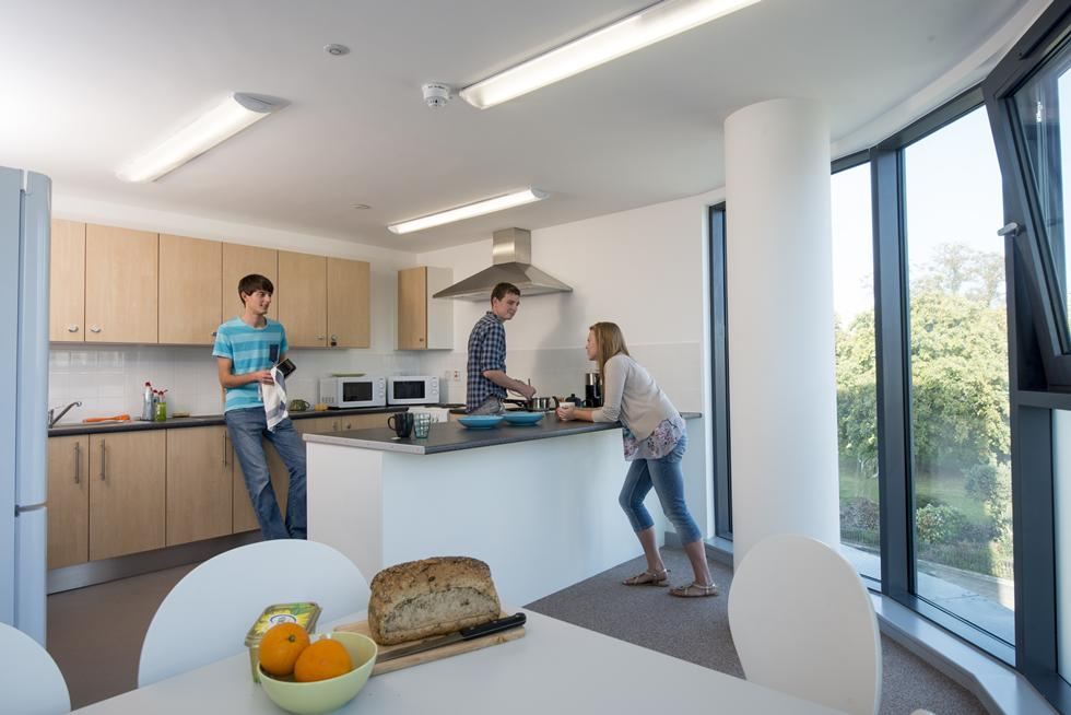 Kitchens are bright and spacious