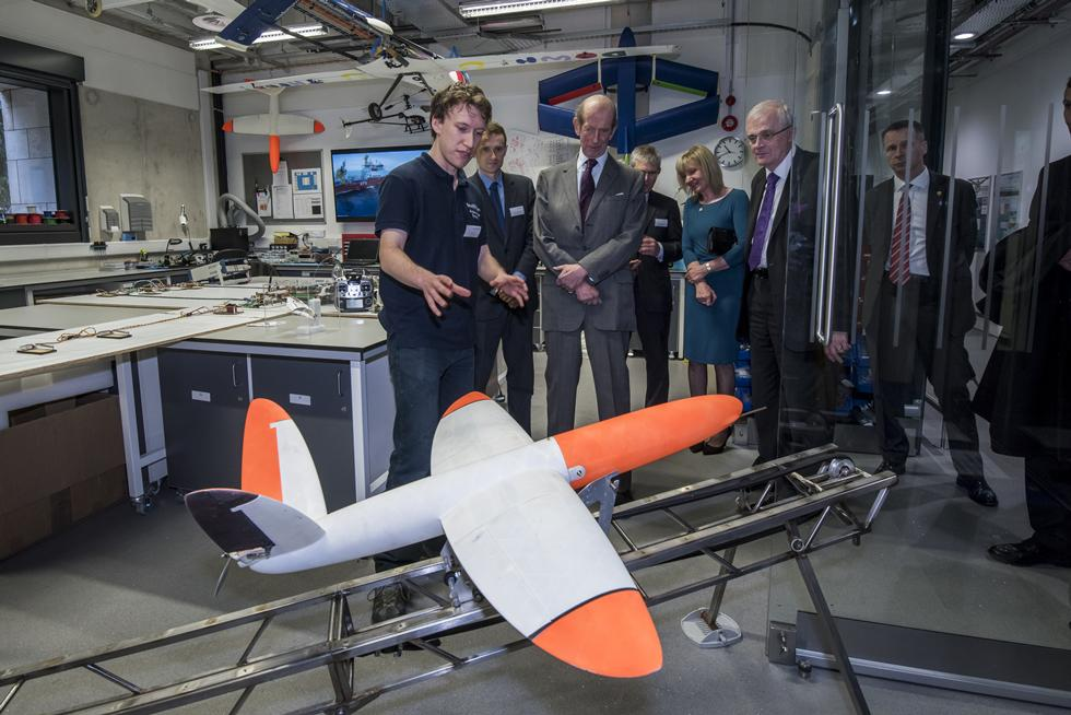 Enterprise Fellow Andrew Lock explains how the world's first 3D printed aircraft, created by the University, is being used in Antarctica by the Royal Navy