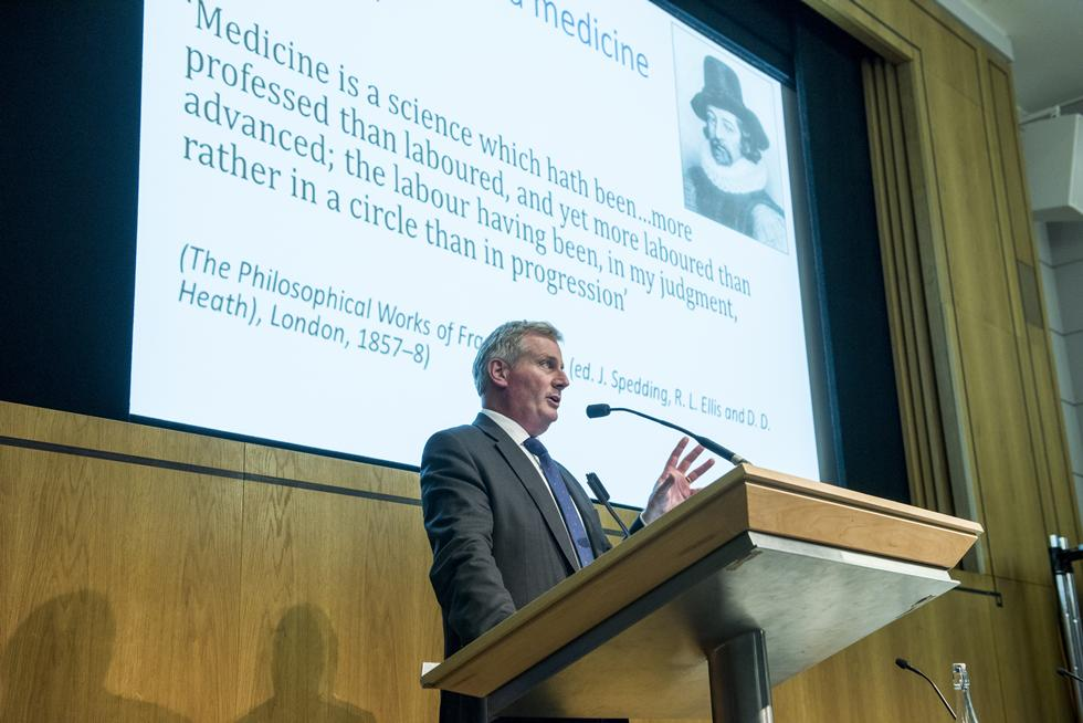 Professor Peter Johnson answering question