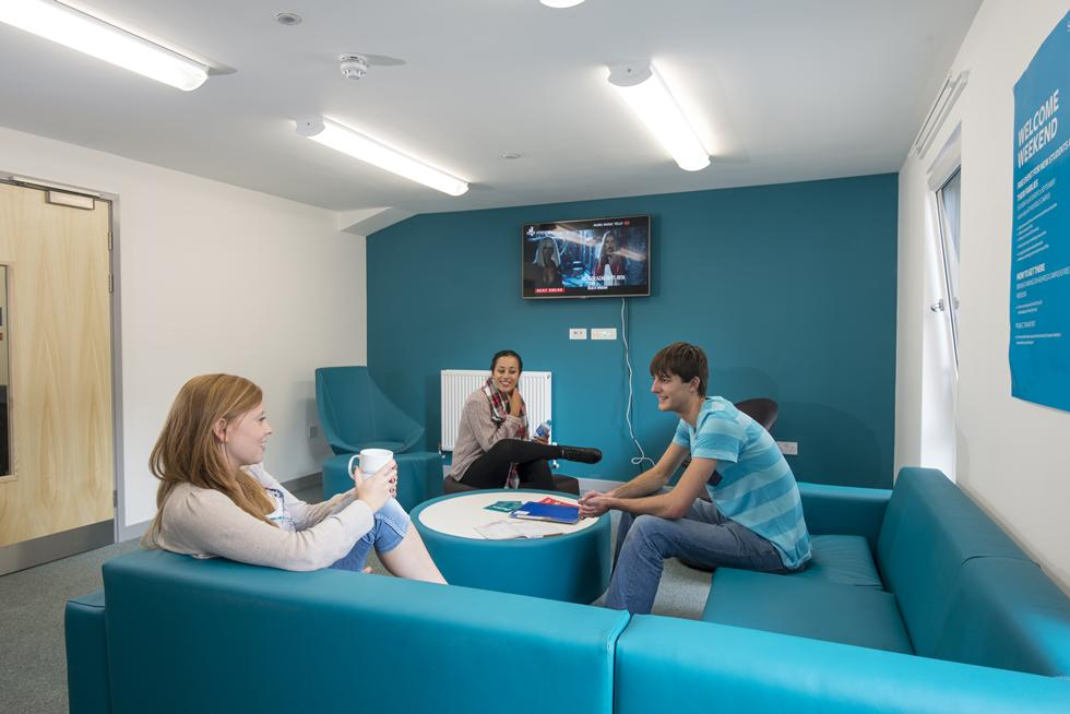 Common rooms are available for socialising and relaxing with friends
