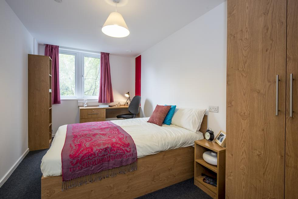 An example of a one bedroom flat in halls
