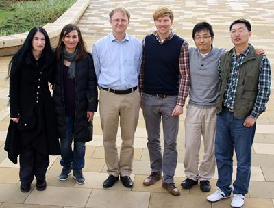 Photograph of Auditory Speech Lab researchers