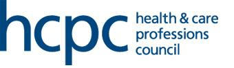 Health and Care Professions Council Accreditation Logo