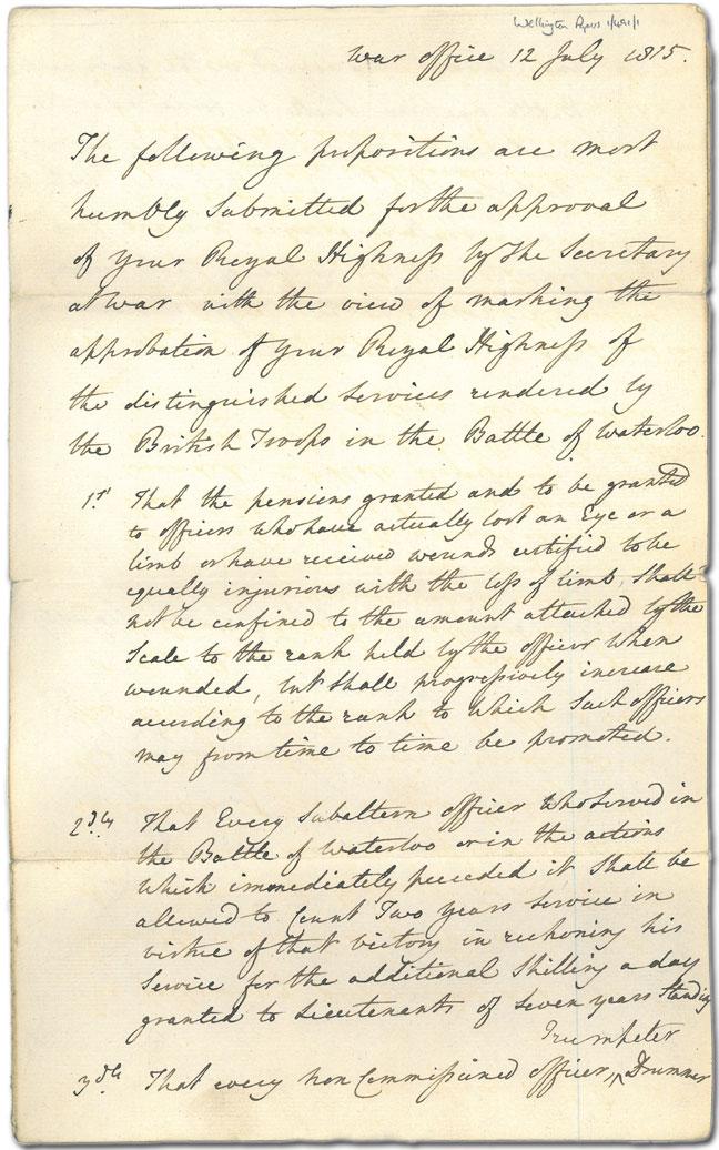 Memorandum by Lord Palmerston - front