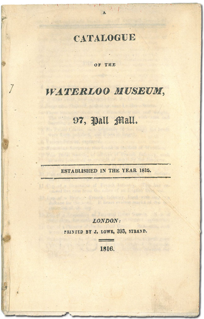 Title page of catalogue