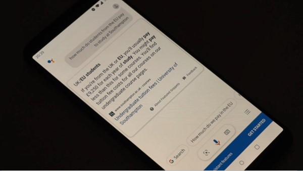 funding google voice search