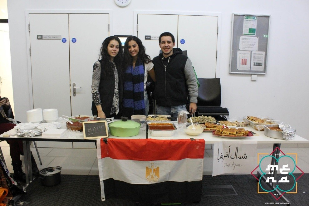 The MENA Society and Lebanese Society collaboratively hosted a Souk Ek Akl at the University of Southampton. Members from the MENA Society showcase a table full of food, capable of satisfying anyone's cravings!