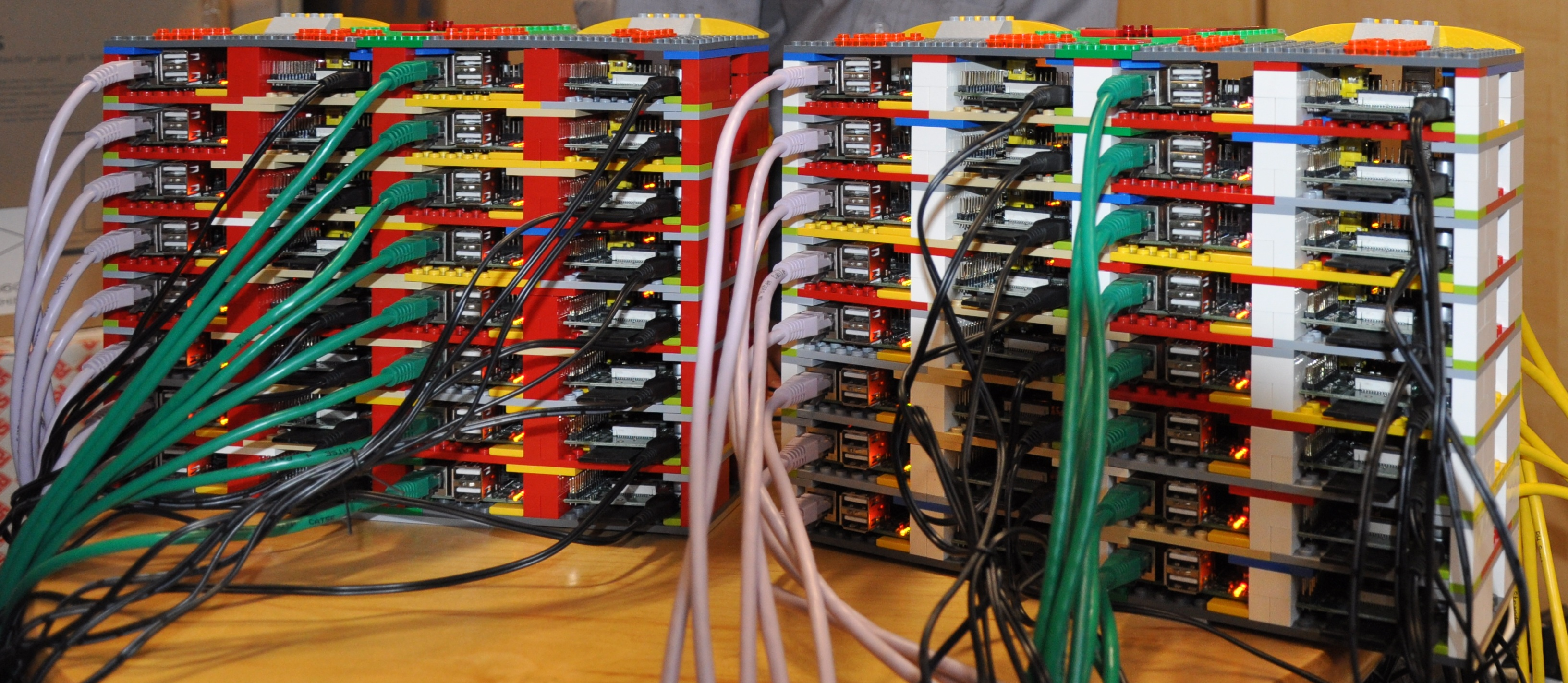 Raspberry Pi And Lego Supercomputer Pictures Southampton